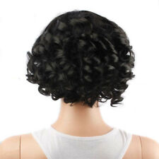 Black Short Curly Human Hair Lace Front Wigs Women African Glueless Full Wig N5C