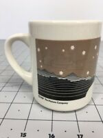 Vintage 1989 The Nature Company Night Sky Mountains Mug Beautiful