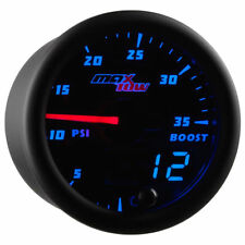 MaxTow 52mm Black Double Vision Double Vision 35 PSI Boost Gauge - MT-BDV01_35