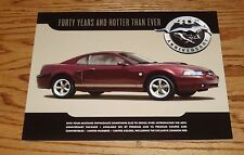 Original 2004 Ford Mustang 40th Anniversary Sales Brochure 04