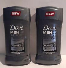 LOT OF 2 Dove Men+ Care Elements Antiperspirant Deodorant-Charcoal 2.7 oz each