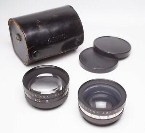 EX! Yashica Electro 35 Telephoto & Wide Angle Auxiliary Lens Set Yashikor Aux