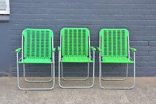 Vintage retro deck chairs outdoor garden sun lounge beach kombi caravan fold up