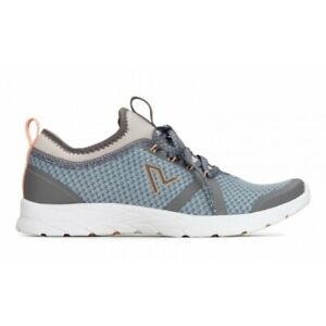 NEW Vionic Womens Brisk Alma Grey and Blue Walking Shoes Size 6