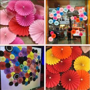 Tissue Paper Wheel Fan Honeycomb Flowers Wedding Birthday Party Hanging Decor