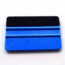 PE Plastic Vinyl Installing Tool Felt Wrapped Blue 10x7.3cm Soft Squeegee Hot