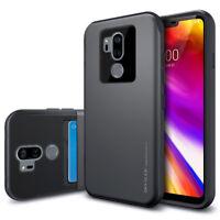For LG V50 40 / G7 ThinQ Case 2-Card Slide Hidden Wallet Shock-Protective Cover