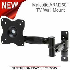 "Majestic ARM2601 Double Swing ARM Lock DEL TV Wall Mount Bracket│10"" to 22"" TVs"