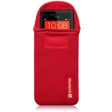 Shocksock Neopreno Bolsa Funda Para Htc Windows Phone 8x / Rojo