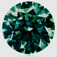 3.57ct VS1/ 10.02 MM BLUEISH GREEN LOOSE ROUND REAL MOISSANITE