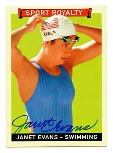 2008 Goudey Sport Royalty Autograph Janet Evans Olympic Swimming Champion