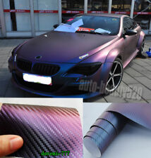 3D 6D Carbon Fiber Vinyl Glossy Chrome Brushed Car Wrap Film Foil Bubble Free