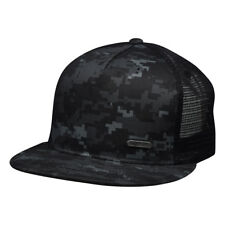 Digital Camo Trucker Hat with Metal Emblem by LET'S BE IRIE
