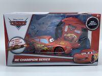 Disney Pixar Cars RC Champion Series McQueen Remote Control Car NEW