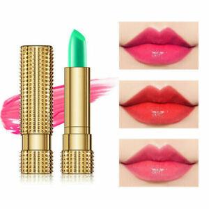 Aloe Vera Lipstick Lip Balm Magic Colour Changing Lip gloss Pink Cosmetic UK