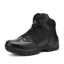 NORTIV 8 Men's Zip Military Tactical Boots Motorcycle Combat Ankle Hiking  Boots