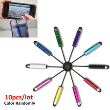 10x Mini Stylus Touch Pen Eingabestift für iPhone iPad Samsung Tablet +Dust Plug