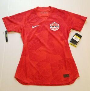 Nike Team Canada 2020/21 Home Stadium Soccer Jersey CQ4629-600 Women Size Small