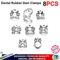 Metal Ivory Rubber Dam Clamps Winged Premolar Clamp Lower Molar Dental MEDENTRA®
