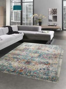 Alfombra libre adornos alfombra oriental alfombra sala estar vintage gris azul