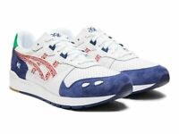 ASICS MENS TIGER GEL LYTE LACE UP FASHION SHOES 1191A166-101 WHITE/CLASSIC RED