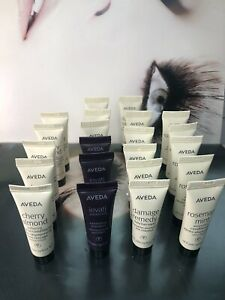 22 pc Lot Aveda Shampoo, Conditioners, Treatment + more 10ml each sample size