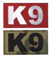 K9 Dog Handler Patch Hook Loop Combat MWD Military Reflective IRR Badge 9x5cm
