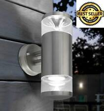 Modern LED Outdoor Wall Light Outside External Patio Fitting Up Down Lamp NEW