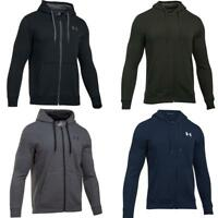 Under Armour Mens Rival Fitted Full Zip Fleece Hoodie Gym Training Casual Hoody