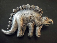 Groß Verzierung, Gürtelschnalle Vintage 80 Dinosaurier - Retro Gürtel Buckle