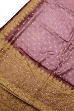 Vintage Indian Pure Tussar Silk Saree Ethnic Hand Woven Sari Wrap Sarong Fabric