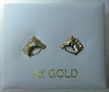 9ct Gold small Horses head stud earrings