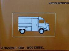 Notice d'emploi - Citroën TYPE H