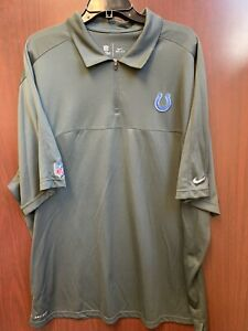 Nike NFL Indianapolis Colts Dri-Fit Dark Grey On-Field Polo 3xl Used