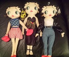 Betty Boop Dolls Lot Of 3 Boxer, Motorcycle Chick & Evening Dress New/Tags