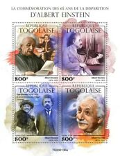 Togo Science Stamps 2020 MNH Albert Einstein Physics Famous People 4v M/S