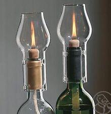 Wine Bottle Oil Lamp Kit - Clear - Twin Pack.