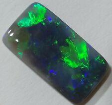 GORGEOUS 5.2ct Solid Black Opal GREEN & BLUE Cushion Lightning Ridge!