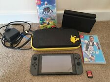 Nintendo Switch Grey Console Bundle - Zelda,Fifa19 and Lego Games + Case