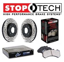 For Dodge SRT8 Set of Rear Drilled & Slotted Brake Rotors & Sport Pads StopTech