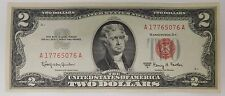 $2.00 RED SEAL TWO DOLLAR JEFFERSON TWO DOLLAR OLD ESTATE MONEY