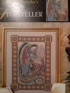 Teresa Wentzler The Storyteller Dragon Cross Stitch Pattern Booklet Rare Used