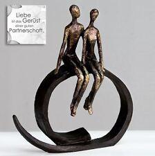 Skulptur Dekoobjekt close / Paar Poly Bronzeoptik 35x30cm Casablanca