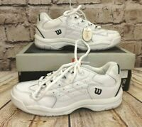 Kids Wilson ProStaff Intrigue White Lace Fastening Trainers Size UK 3.5