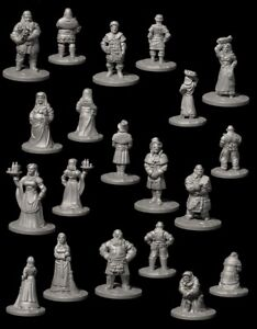 25mm 28mm Wargaming Scenery Frostgrave 3d Printed - Villagers Set 3