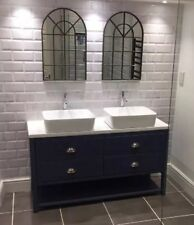 Painted Bathroom Cabinet Double Washstand  140cm Granite Top, Any Colour