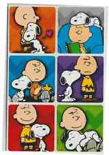 """25 Peanuts Charlie Brown Snoopy Stickers, 2.5"""" x 2.5"""" each, Party Favors"""