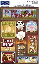 Karen Foster MY TRIP TO THE FARM Scrapbook Stickers