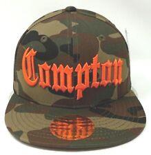 Camouflage COMPTON Snapback Hat Cap CPT Camo Flat Bill South Central LA Cali New