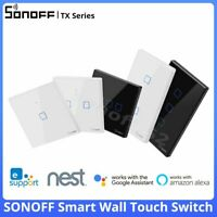 SONOFF TX Series Smart WiFi Wall Switch Touch EU/UK APP Remote Control 86 Type